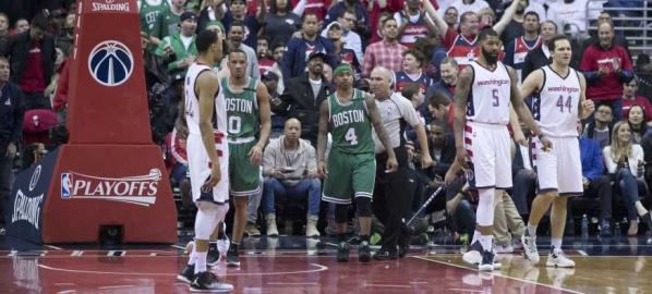 Celtics vs Wizards during the 2017 NBA Playoffs, June/7/2017.